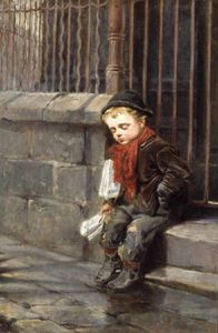 Ralph Hedley - The News Boy -