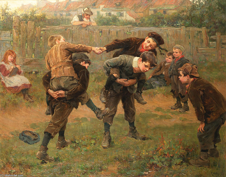 The Tournament by Ralph Hedley (1848-1913, United Kingdom) | Famous Paintings Reproductions | WahooArt.com