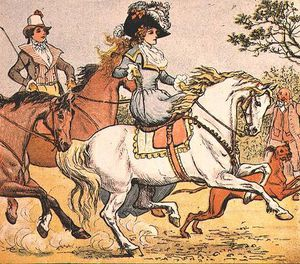 Randolph Caldecott - A Fine Lady On A White Horse From Ride A Cock Horse