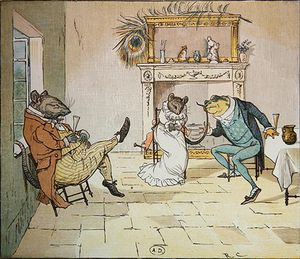 Order Museum Quality Copies | Pray, Mr Frog, Will You Give Us A Song by Randolph Caldecott (1846-1886, United Kingdom) | WahooArt.com