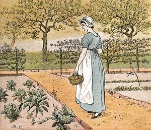 Randolph Caldecott - She Went Into The Garden