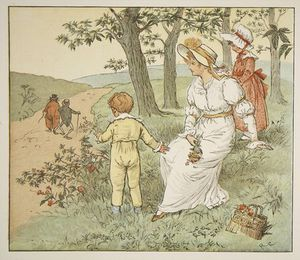 Randolph Caldecott - Walking To Mousey's Hall