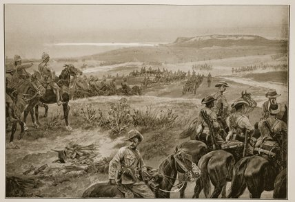 A Reconnaissance In Force With General French's by Richard Caton De Woodville (1856-1927, United States)