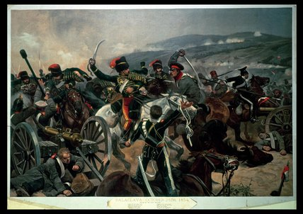 Battle Of Balaclava by Richard Caton De Woodville (1856-1927, United States)