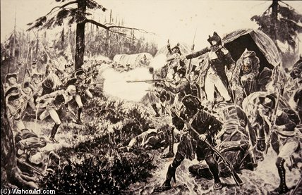 Battle Of Brandywine by Richard Caton De Woodville (1856-1927, United States) | Oil Painting | WahooArt.com