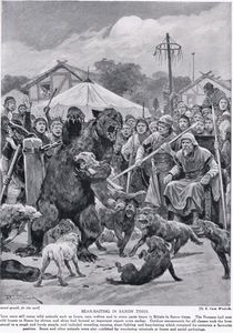 Richard Caton De Woodville - Bear Baiting In Saxon Times