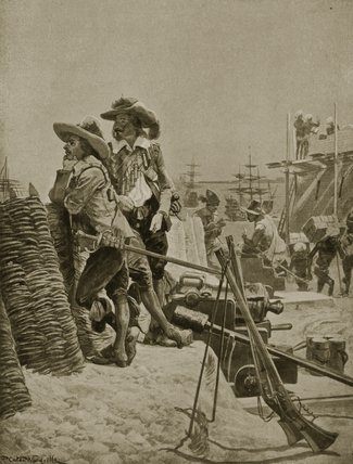 Building The First Fort At Madras by Richard Caton De Woodville (1856-1927, United States)