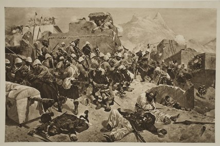 Candahar - The 92nd Highlanders - by Richard Caton De Woodville (1856-1927, United States)