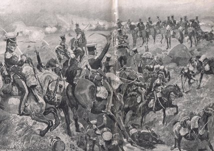 Charge Of The 23rd Dragoons Against The French by Richard Caton De Woodville (1856-1927, United States)