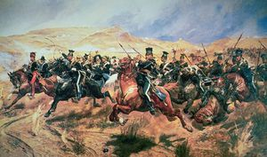 Charge Of The Light Brigade, Balaclava by Richard Caton De Woodville  (order Fine Art fine art print Richard Caton De Woodville)