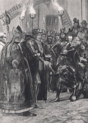 Edward Iii Greeting The Prince Of Wales by Richard Caton De Woodville (1856-1927, United States) | WahooArt.com