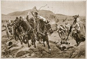 Richard Caton De Woodville - Field Artillery Coming Into Action