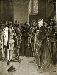 Richard Caton De Woodville - Henry Vi Is Delivered To Edward Iv At St. Paul's