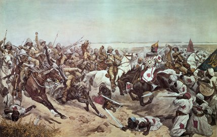 Lancers At Omdurman by Richard Caton De Woodville (1856-1927, United States)