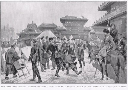 Muscovite Merrymaking During The Russo-japanese by Richard Caton De Woodville (1856-1927, United States)