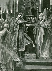 Richard Caton De Woodville - I Delivering The Crown To The Archbishop