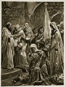 Richard Caton De Woodville - The Anointing Of Edward The Martyr At His Coronation