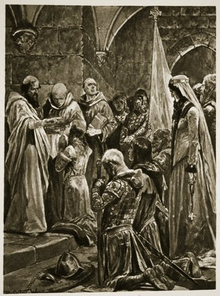 The Anointing Of Edward The Martyr At His Coronation by Richard Caton De Woodville (1856-1927, United States)