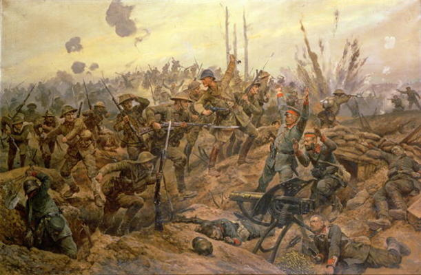 The Battle Of The Somme by Richard Caton De Woodville (1856-1927, United States) | WahooArt.com