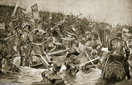 The Battle Of Towton - by Richard Caton De Woodville (1856-1927, United States)
