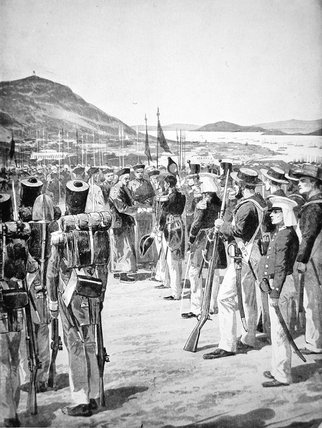 The Cession Of Hong Kong To The British - by Richard Caton De Woodville (1856-1927, United States)