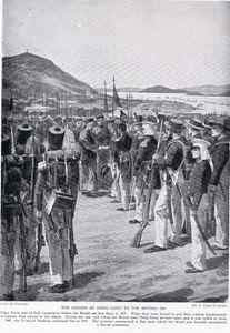 Richard Caton De Woodville - The Cession Of Hong Kong To The British -