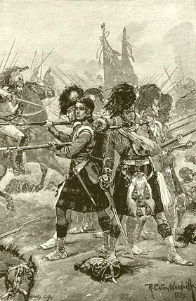 The Forty-second Highlanders At Quatre Bras by Richard Caton De Woodville (1856-1927, United States) | Museum Quality Reproductions | WahooArt.com