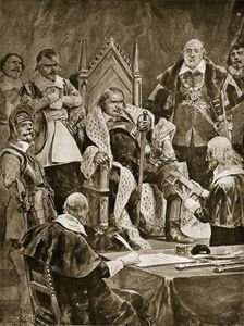 Richard Caton De Woodville - The Inauguration Of Cromwell As Protector