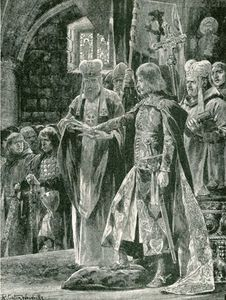 Richard Caton De Woodville - The Investiture Of William Ii With The Ring