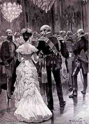 The King Of Prussia At A Court Ball by Richard Caton De Woodville (1856-1927, United States) | WahooArt.com