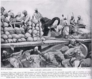 Richard Caton De Woodville - The Nawab's Artillery At Plassey -