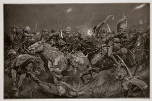 Richard Caton De Woodville - The Night Charge Of The 19th Hussars Near Lydenberg