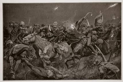 The Night Charge Of The 19th Hussars Near Lydenberg by Richard Caton De Woodville (1856-1927, United States) | WahooArt.com