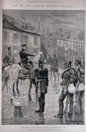 The Prince Of Prussia During The Berlin Insurrection by Richard Caton De Woodville (1856-1927, United States) | WahooArt.com