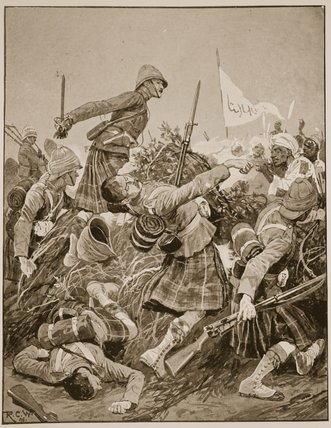 The Seaforth Highlanders Storming by Richard Caton De Woodville (1856-1927, United States) | Art Reproduction | WahooArt.com