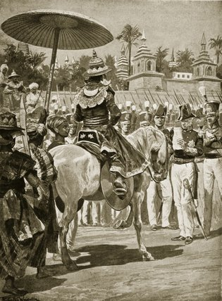 The Surrender Of Rangoon To The British - by Richard Caton De Woodville (1856-1927, United States)
