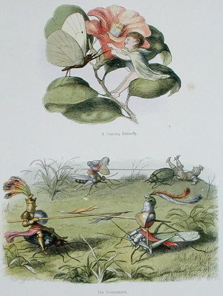 A Dancing Butterfly by Richard Dickie Doyle (1824-1883, United Kingdom) | WahooArt.com