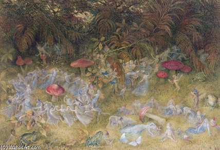 Fairy Rings And Toadstools by Richard Dickie Doyle (1824-1883, United Kingdom) | WahooArt.com