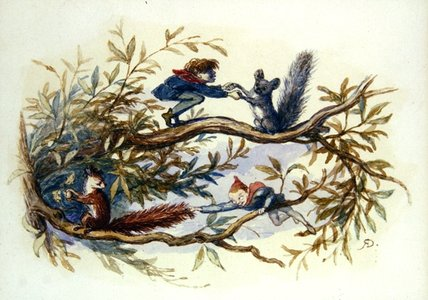 Goblins And Squirrels by Richard Dickie Doyle (1824-1883, United Kingdom) | WahooArt.com
