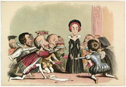 Lady Jane Dudley Pressed To Accept The Crown by Richard Dickie Doyle (1824-1883, United Kingdom) | WahooArt.com