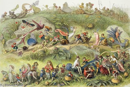 Triumphal March Of The Elf-king by Richard Dickie Doyle (1824-1883, United Kingdom) | WahooArt.com