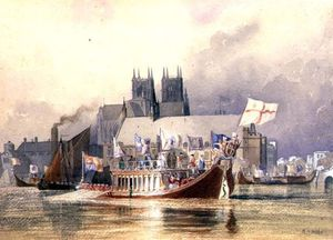 Richard Henry Nibbs - Arrival Of The Lord Mayor At Westminster