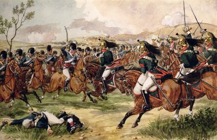 The 20th Light Dragoons At The Battle Of Vimeiro by Richard Simkin (1850-1926, United Kingdom)