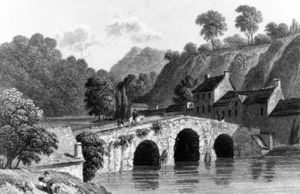 Richard Westall - Glenmire Bridge, Near Cork, Engraved