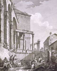 Robert Adam - Side View Of The Temple Of Jupiter, From -ruins Of
