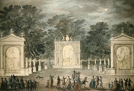 Order Art Reproductions | The Illuminations At Buckingham House For King by Robert Adam (1728-1792, United Kingdom) | WahooArt.com