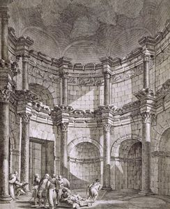 Robert Adam - The Temple Of Jupiter, From -ruins Of The Palace Of..