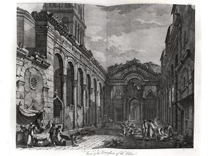 Robert Adam - View Of The Peristyle Of The Palace Of Diocletian ,.