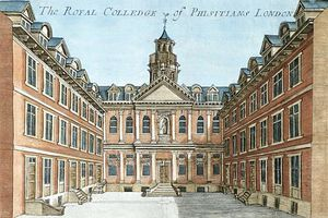 Robert Morden - The Royal College Of Physicians, From ''a Book Of The Prospects Of The Remarkable Places In And Abou