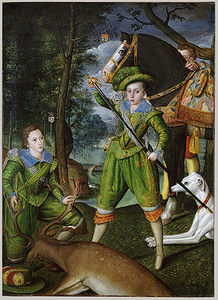 Robert Peake - Henry Frederick (1594–1612), Prince of Wales, with Sir John Harington (1592–1614), in the Hunting Field